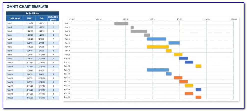 Microsoft Excel Timeline Gantt Chart Template