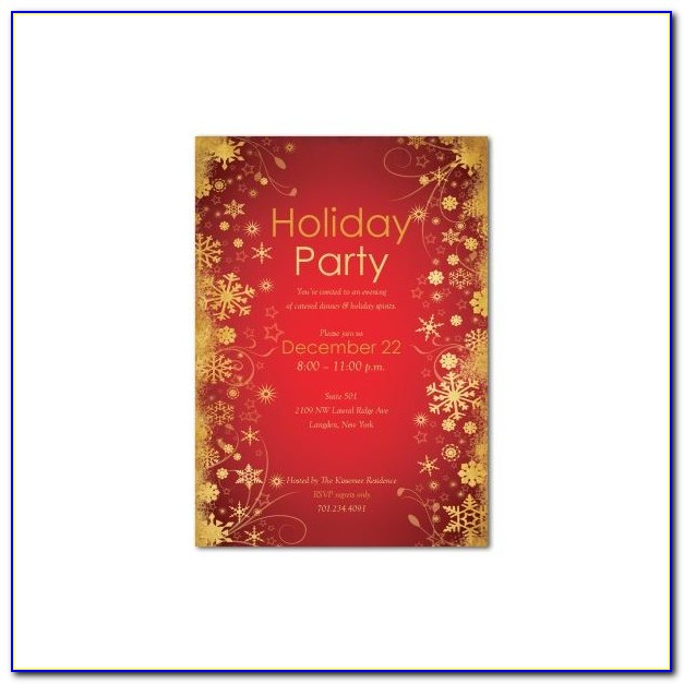 Microsoft Office Christmas Party Invitation Templates