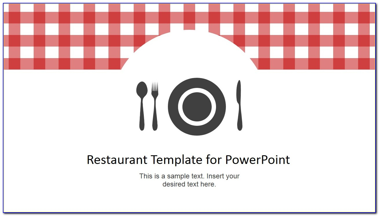 Microsoft Powerpoint Restaurant Menu Template