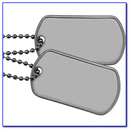 Military Dog Tag Template Free