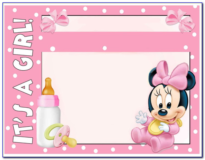 Minnie Mouse Baby Shower Invitations Templates