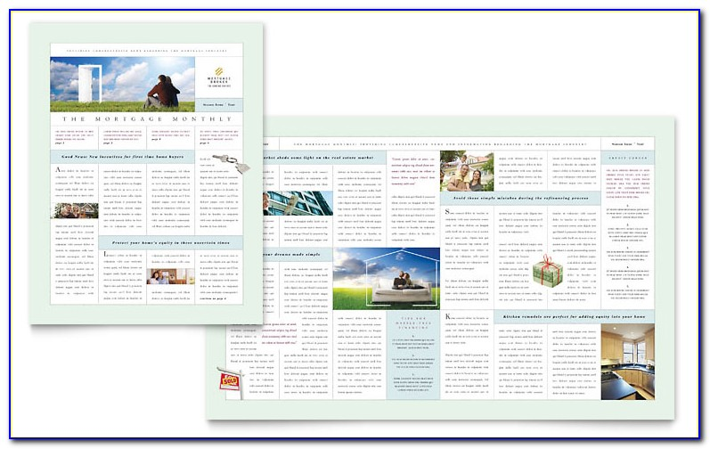 Mortgage Newsletter Templates