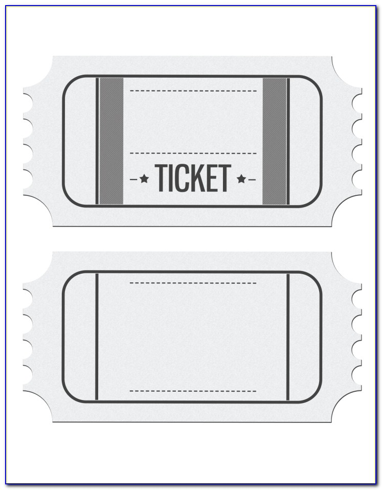 Movie Ticket Stub Sample