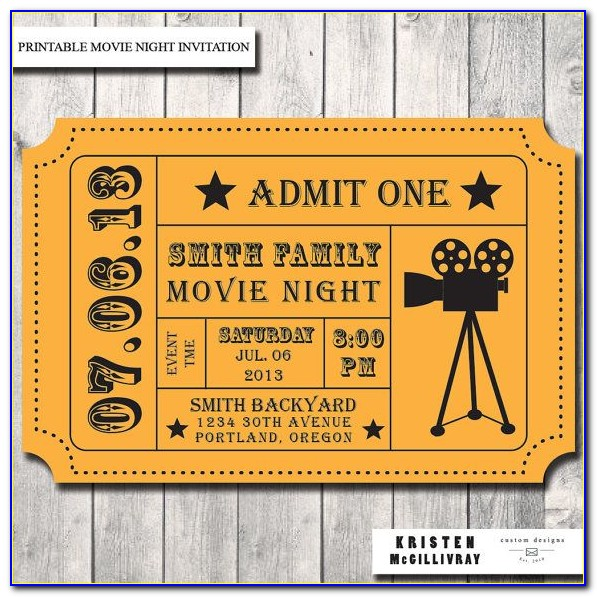 Movie Ticket Stub Template Free
