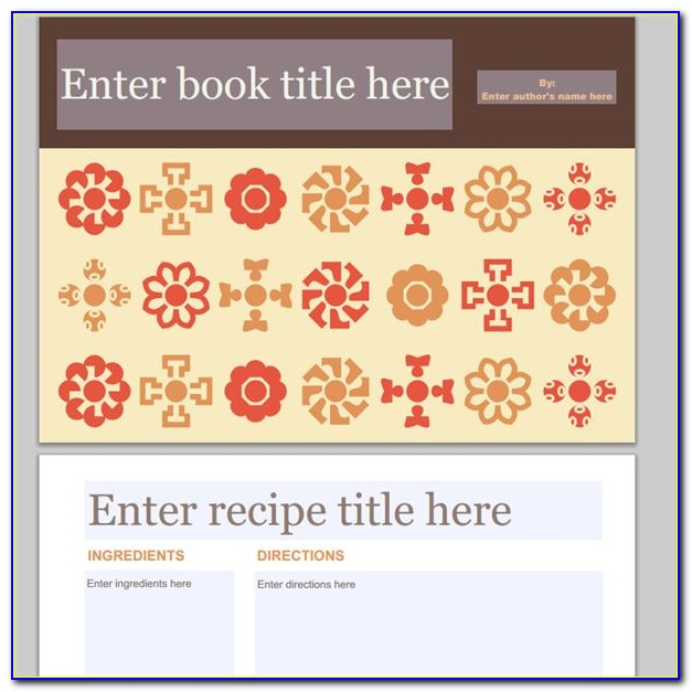 Ms Publisher Cookbook Template