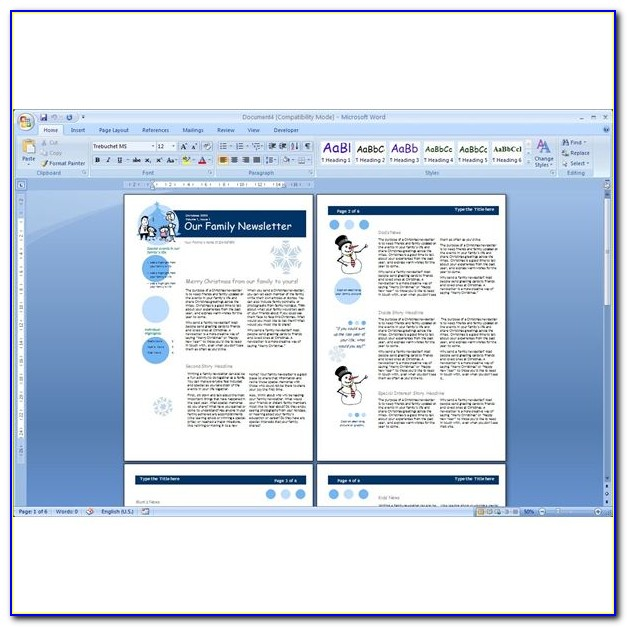 Ms Word Newsletter Templates Free Download