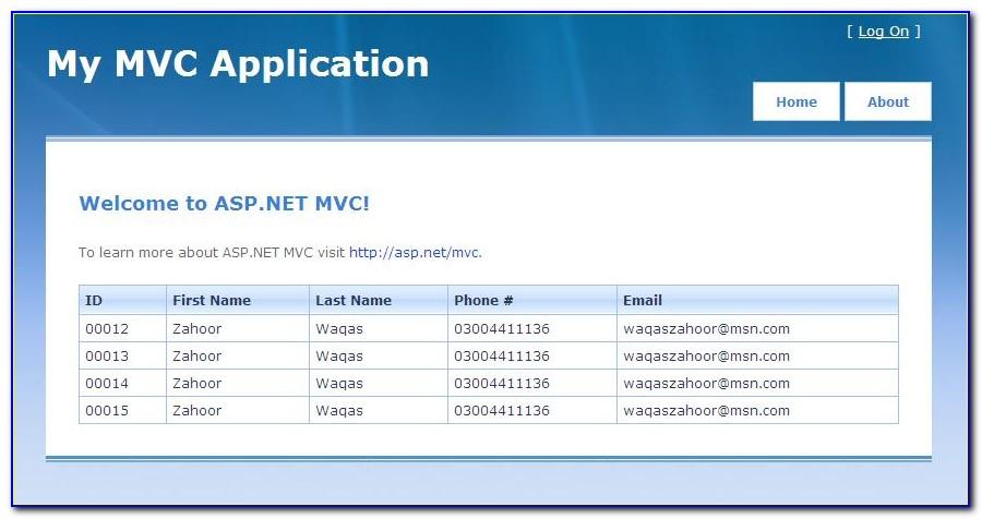 Mvc Website Template