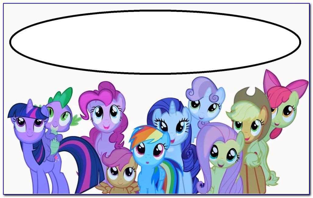 My Little Pony Birthday Invitation Card Template