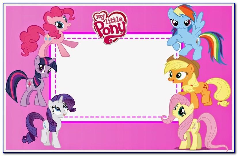 My Little Pony Birthday Invitation Template Free