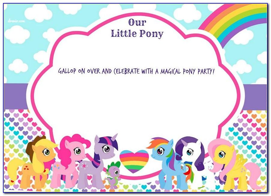 My Little Pony Invitation Card Template