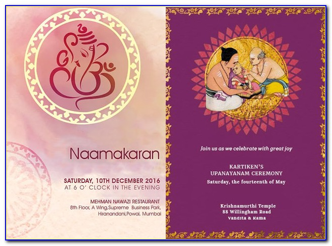 Naming Day Invitation Templates Free