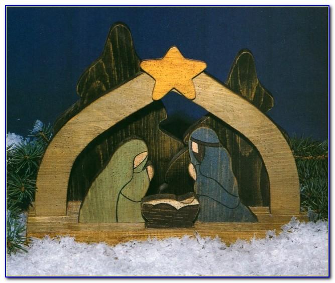 Nativity Scene Template Plywood