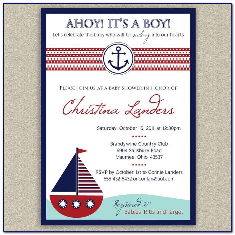 Nautical Themed Invitation Templates