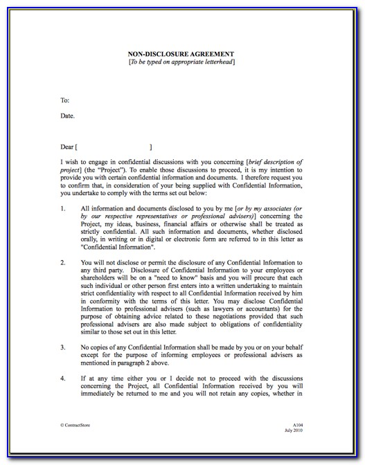 Nda Agreement Template Canada
