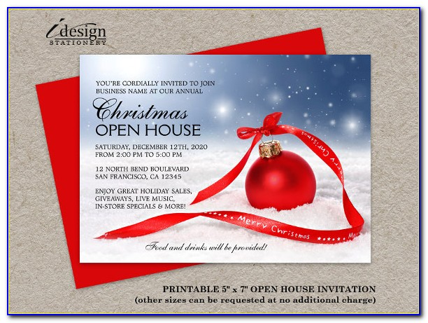 New Business Open House Invitation Wording