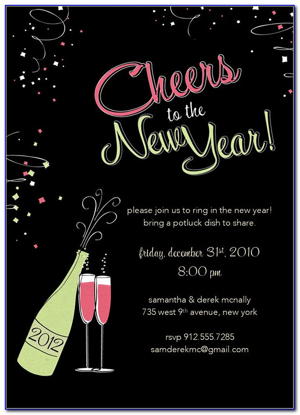 New Years Eve Invitation Maker