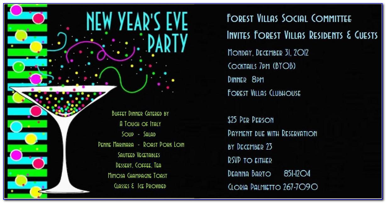 New Years Eve Invitation Templates Free