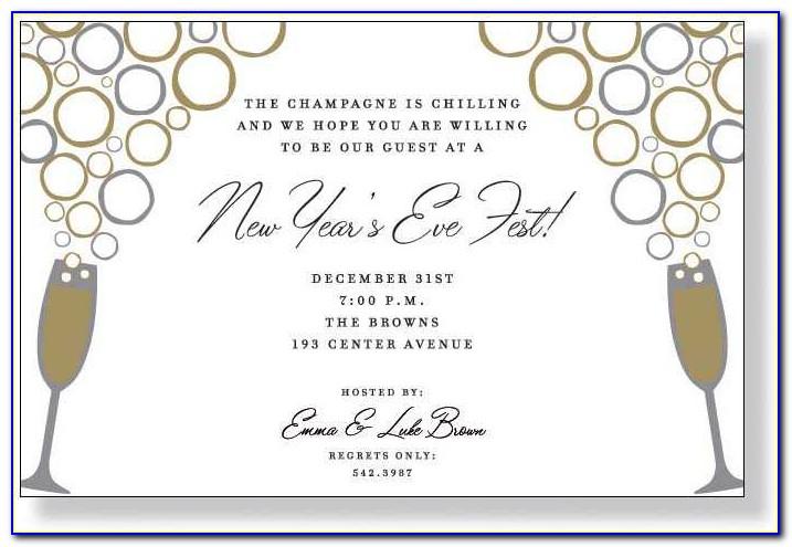 New Years Eve Invitation Templates
