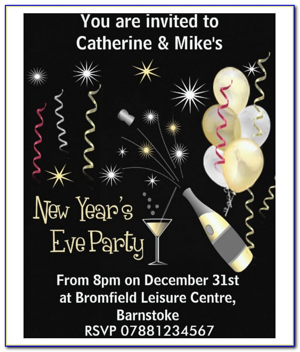 New Years Eve Invitation Word Template