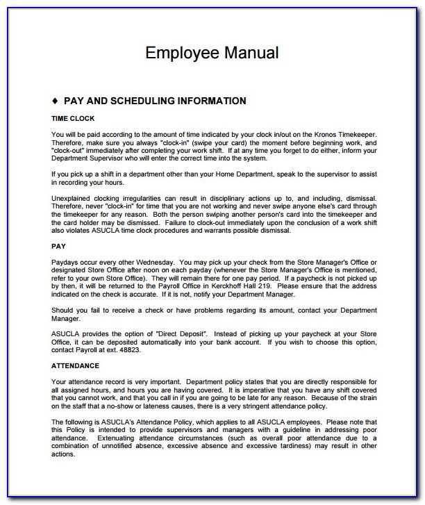 New York Employee Handbook Template