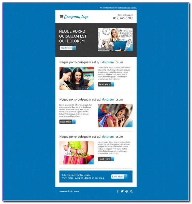 Newsletter Templates For Mailchimp