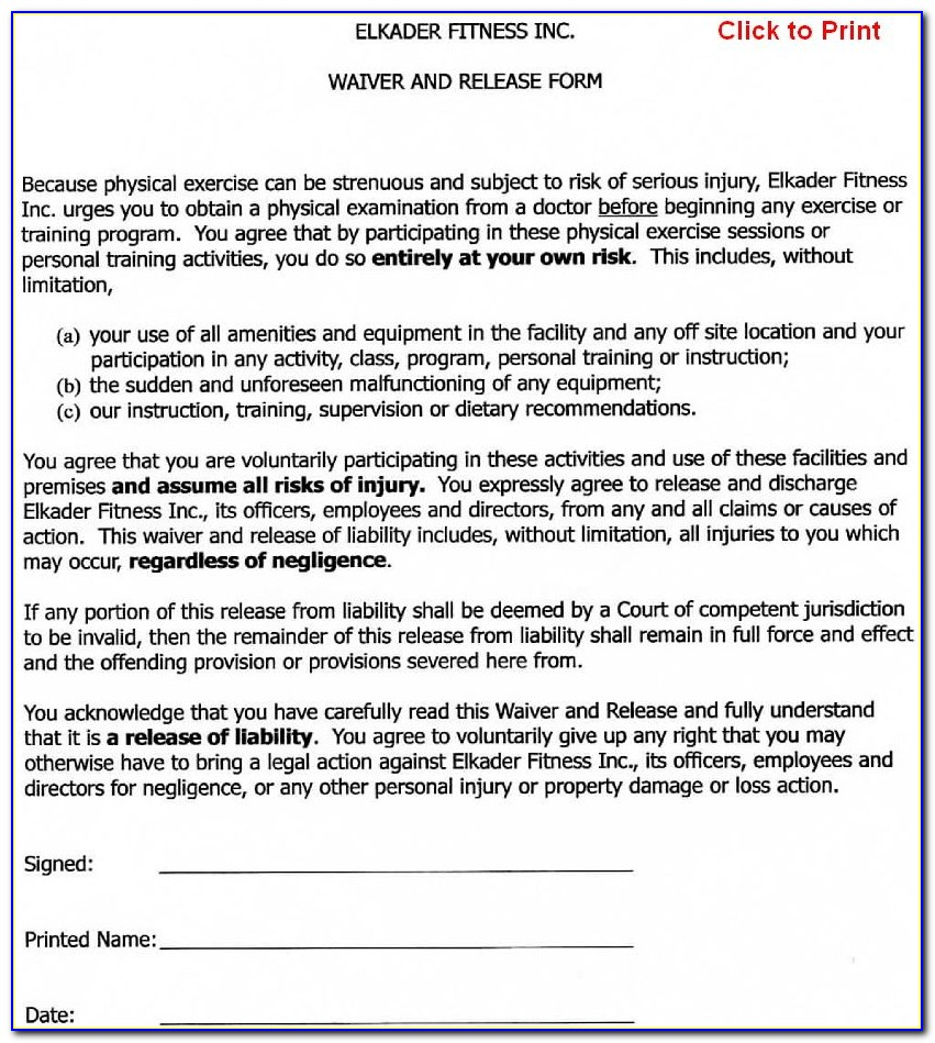 Non Waiver Agreement Template