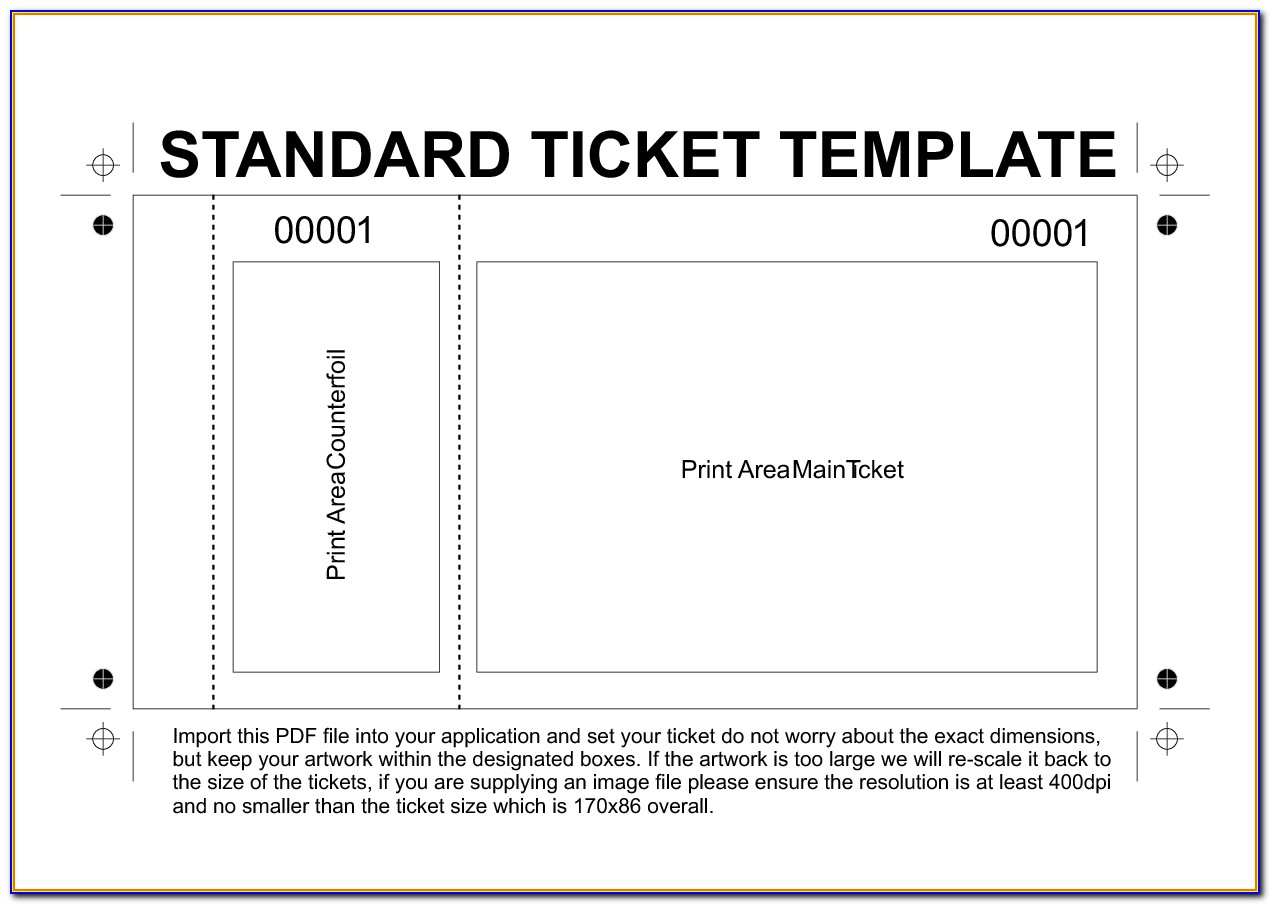 Numbered Event Tickets Template Free