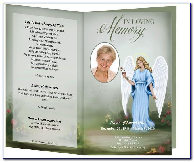 Obituary Card Template Free