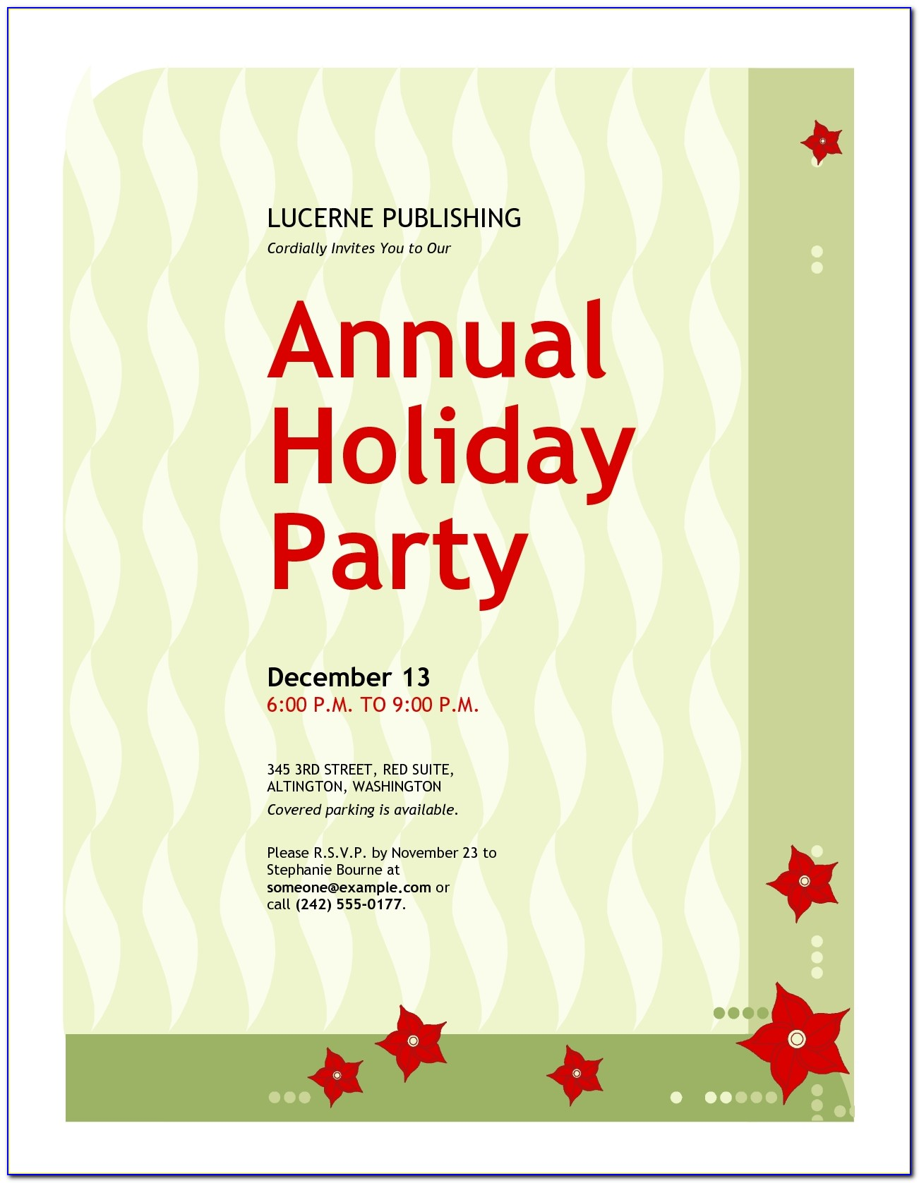 Employee Christmas Party Invitation Wording Rainforest Islands Ferry Pertaining To Employee Christmas Party Invitation Wording