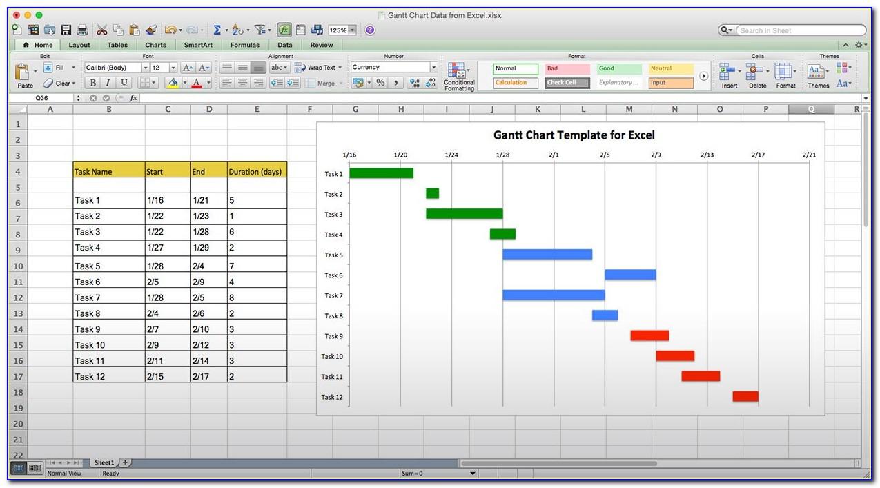 Office Timeline Gantt Chart Excel Template