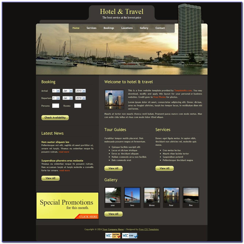 Online Hotel Reservation Website Templates