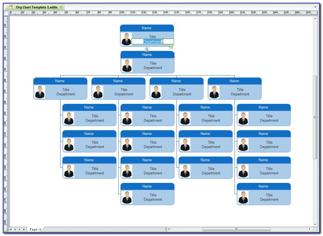 Organisational Chart Template Keynote