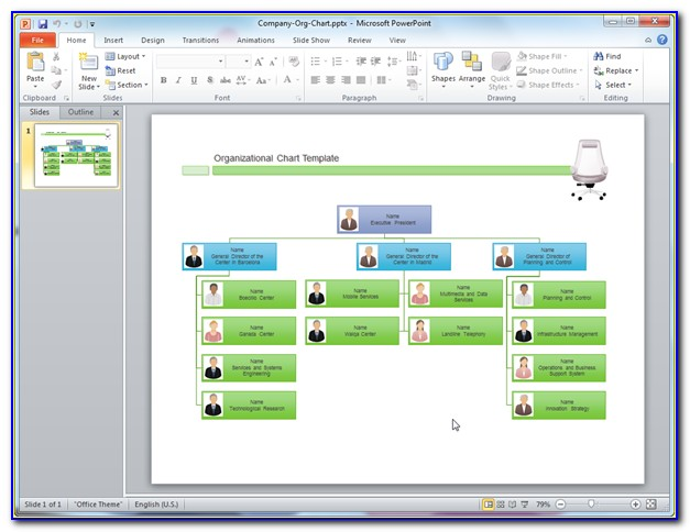 Organizational Charts Powerpoint Template Free