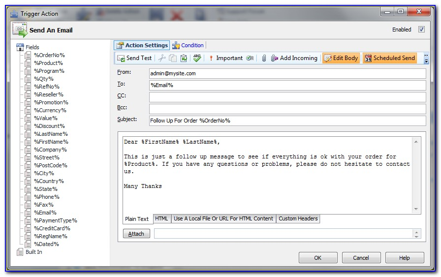 Outlook Auto Reply Email Template