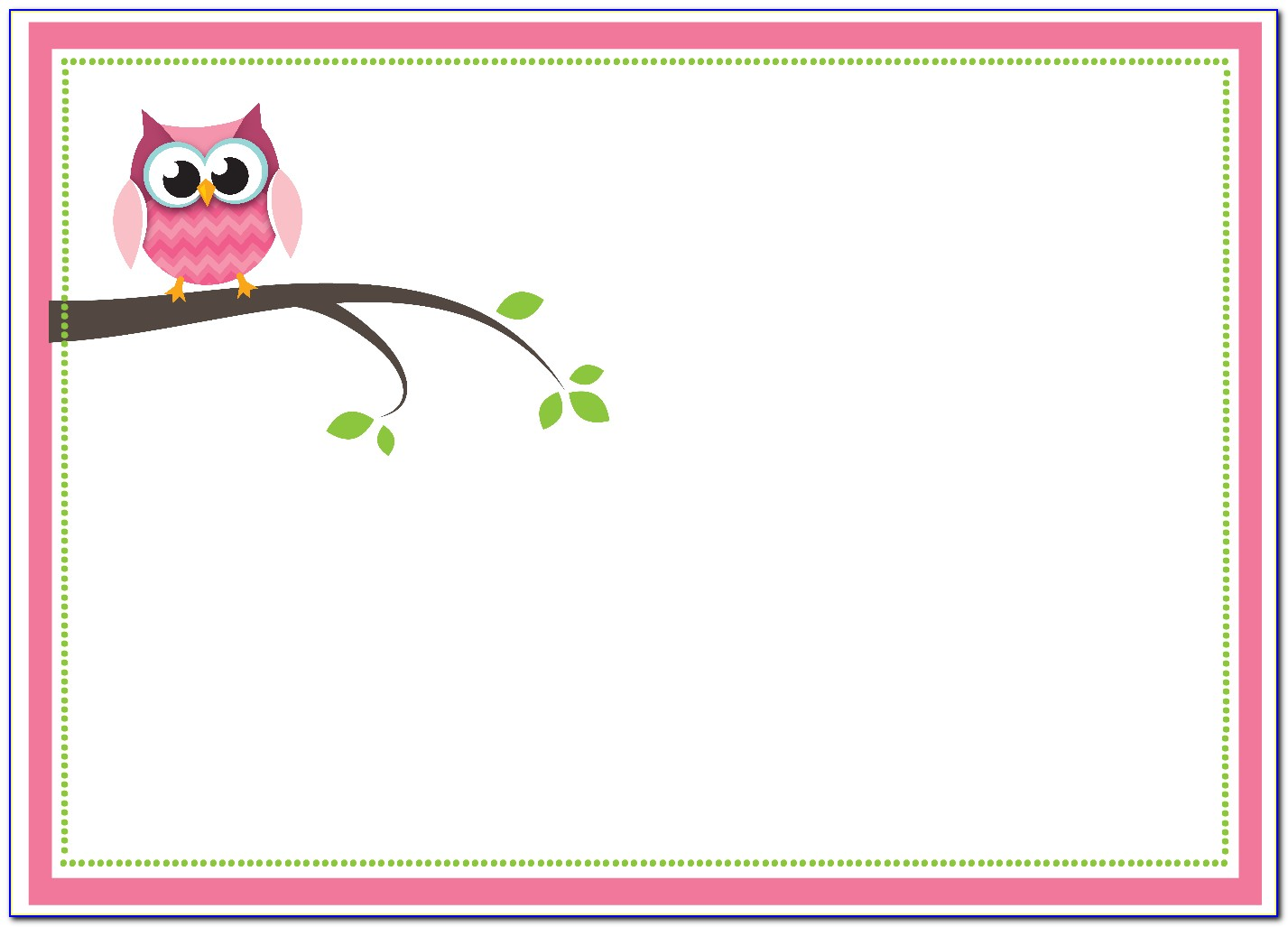 Owl Baby Shower Invitations Templates