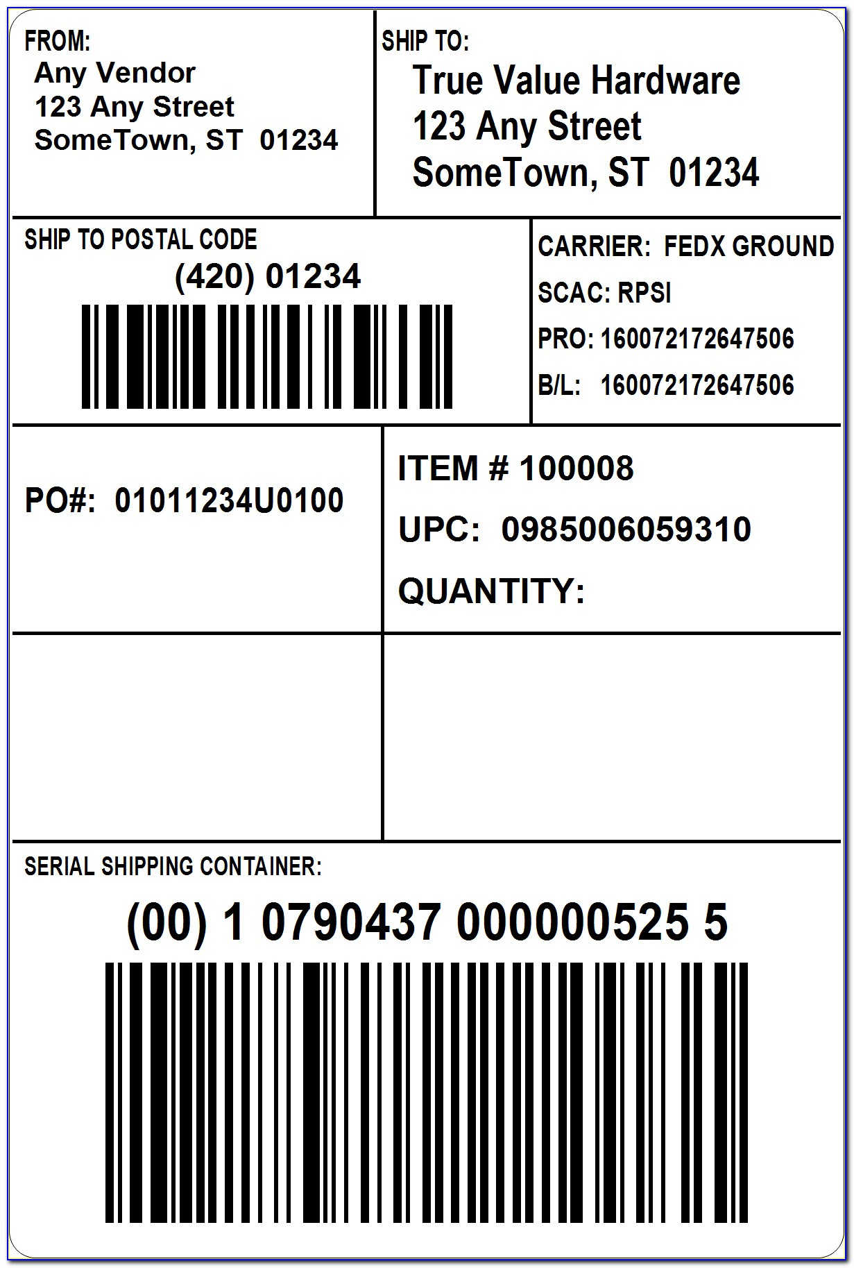 Pallet Label Template Word