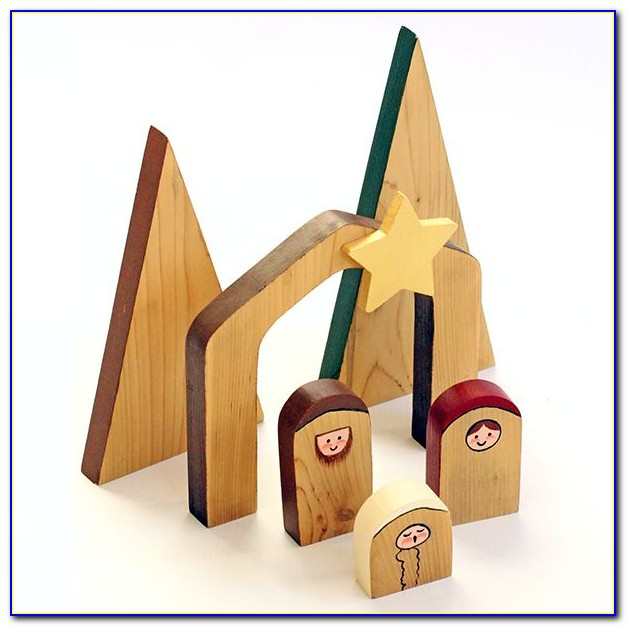 Paper Nativity Scene Template
