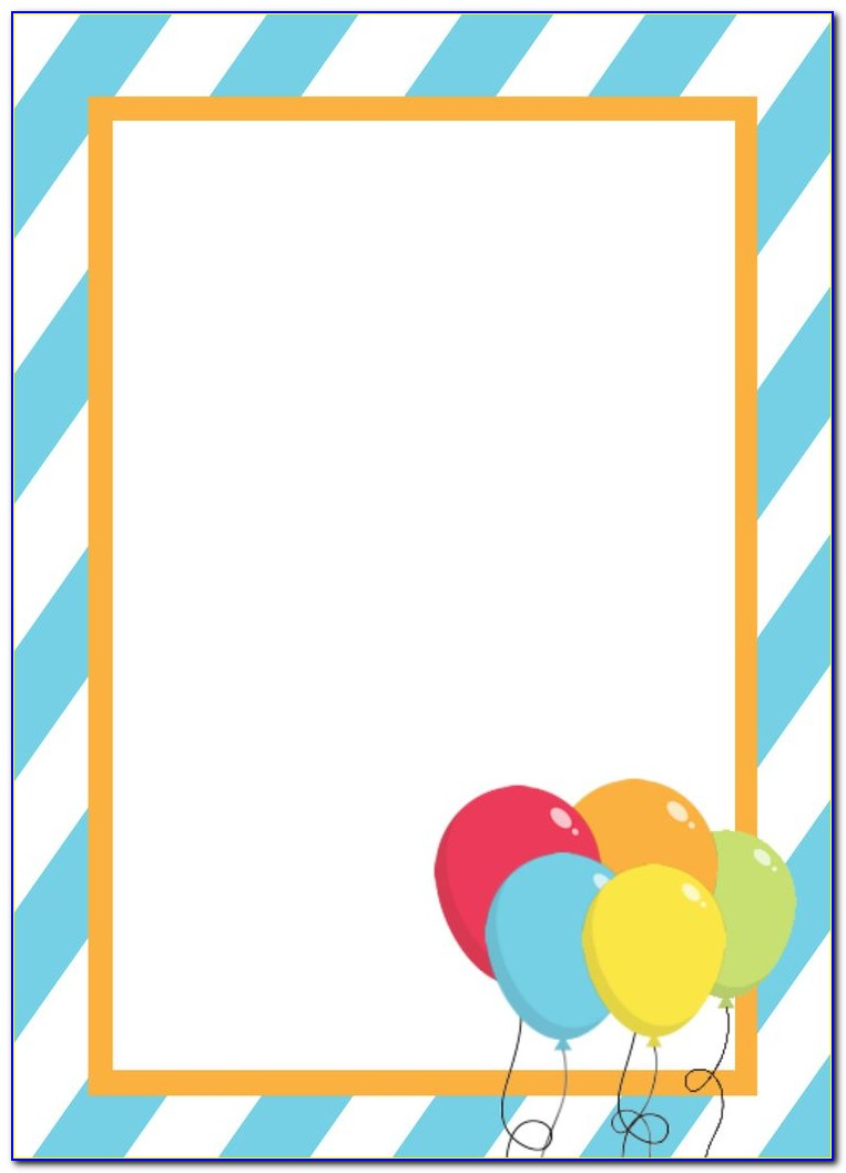 Party Invitation Template Text