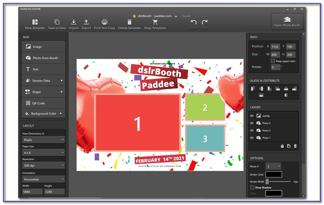Photo Booth Template Maker Online