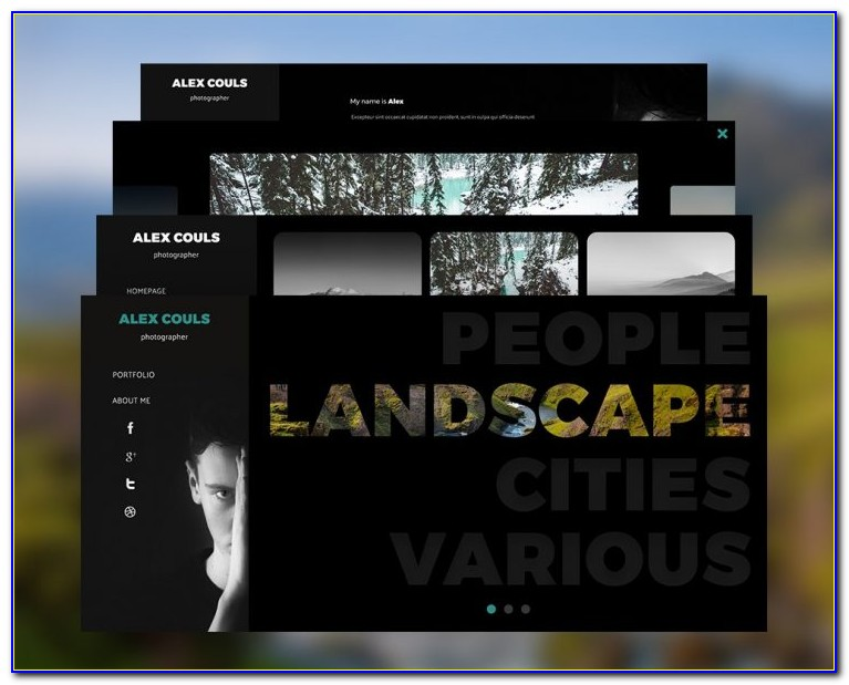 Photographer Portfolio Website Template Free Download