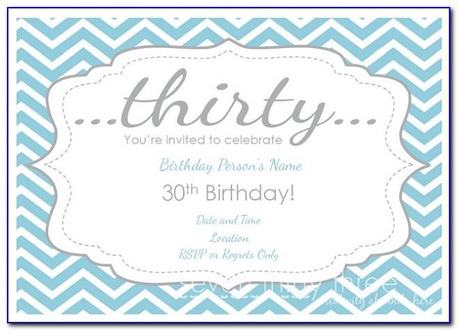 Pinterest 30th Birthday Invitations Templates