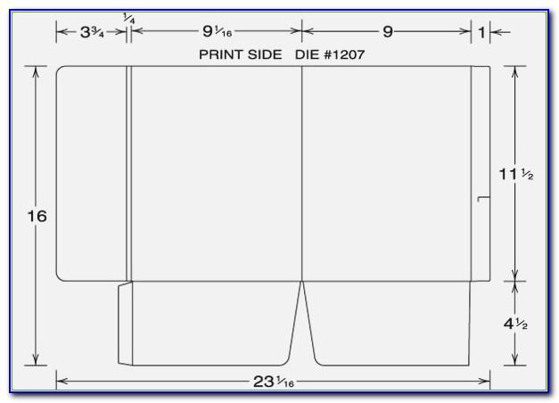 Pocket Folder Template Indesign Presentation Folder Template