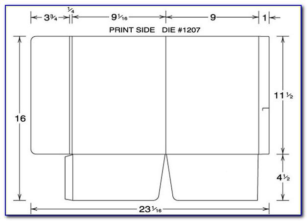 Pocket Folder Template Indesign