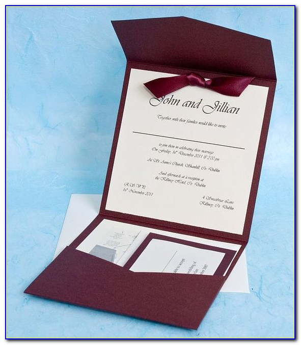 Pocketfold Invitation Template 12x12 Cardstock