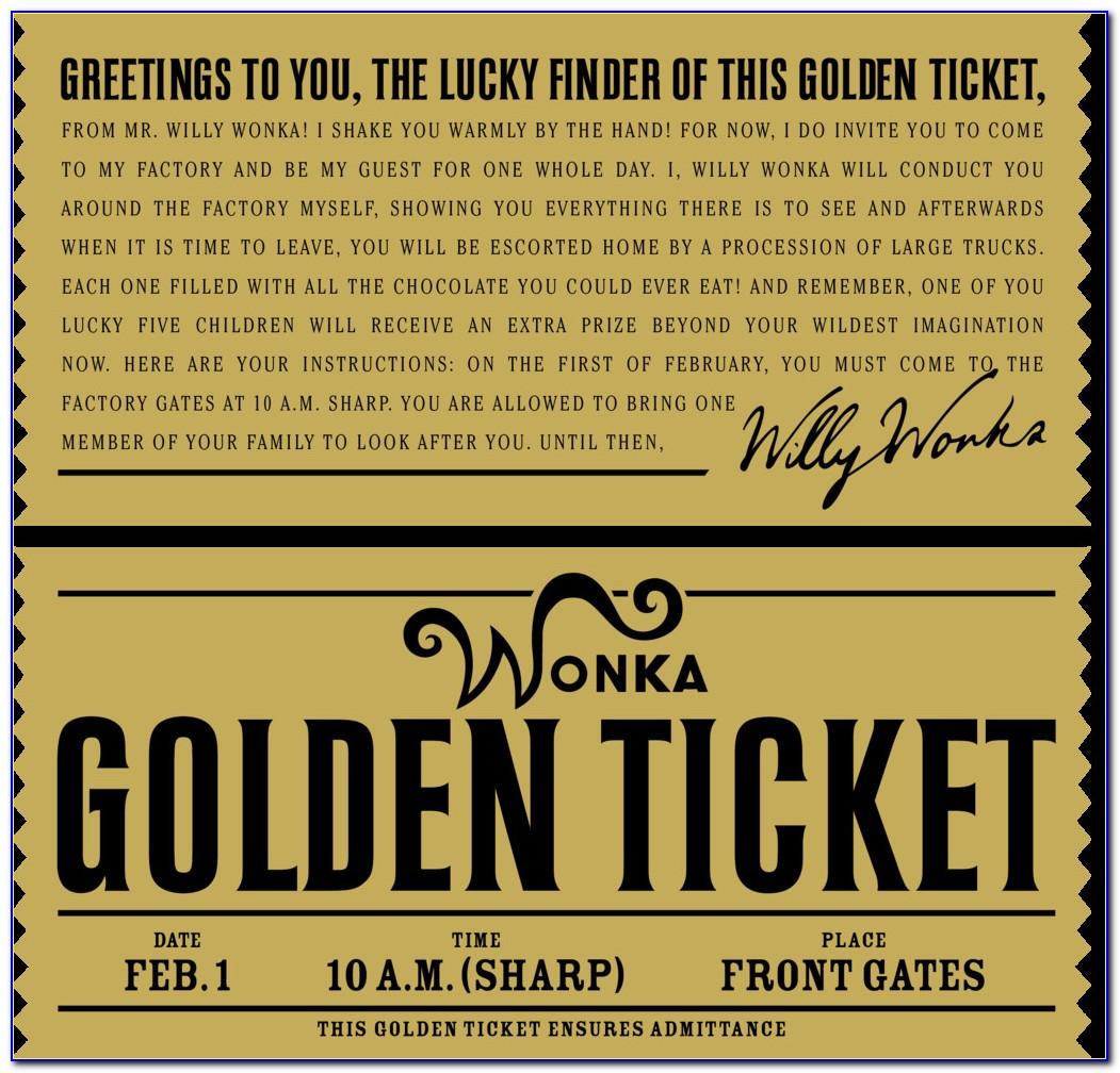 Polar Express Believe Ticket Template