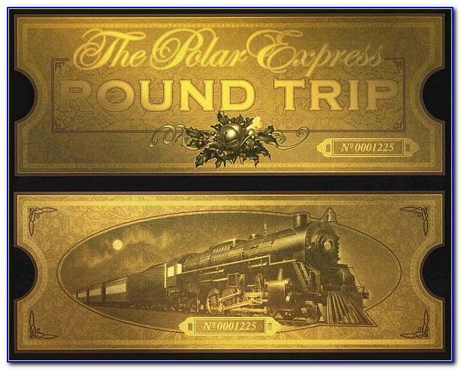 Polar Express Blank Ticket Template