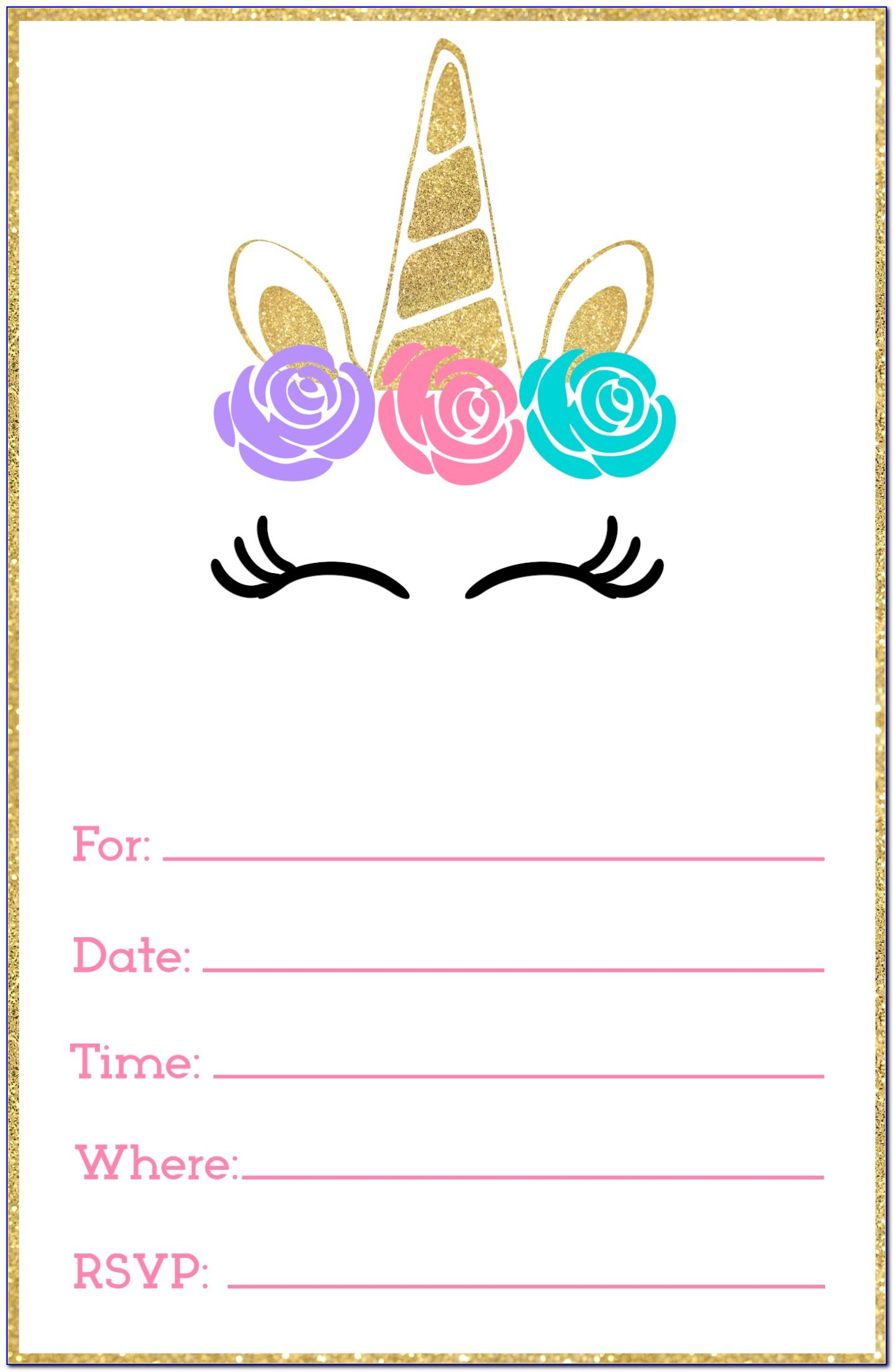 Printable Birthday Invitation Layout