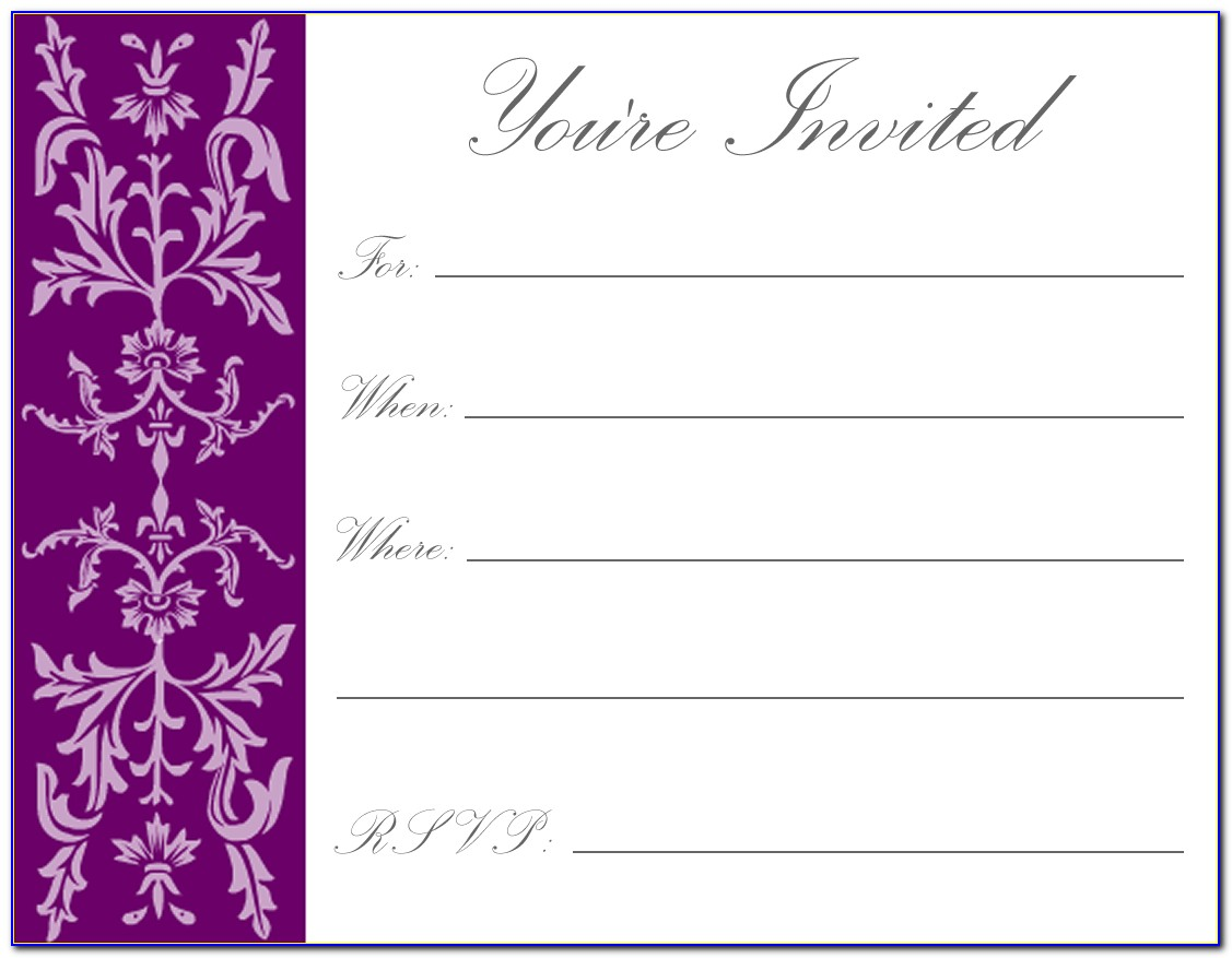 Printable Birthday Invitations Templates Free