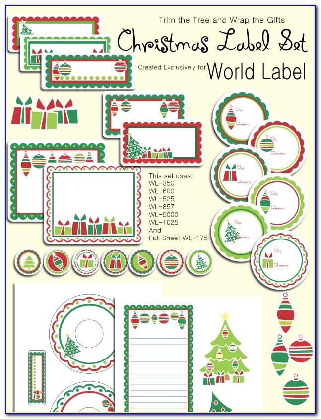 Printable Christmas Gift Labels Templates