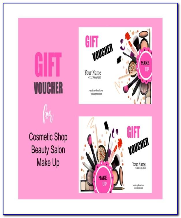 Printable Hair Salon Gift Certificate Template